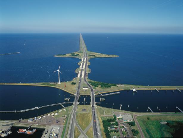Lock on a dyke construction in Zeeland, The Netherlands
